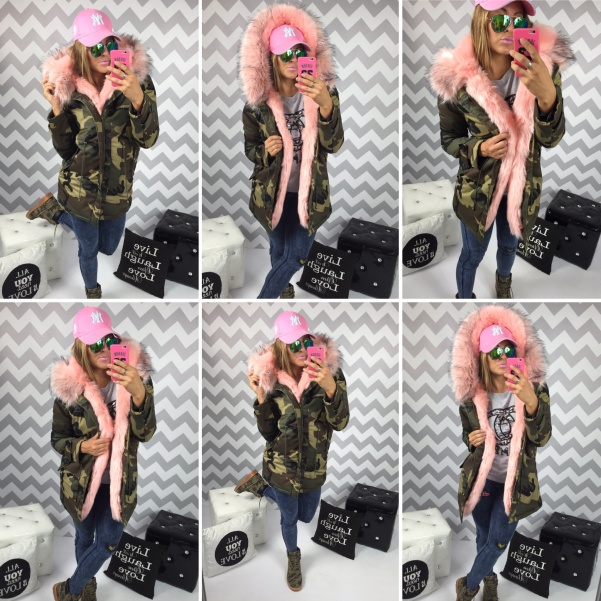PINK army parka